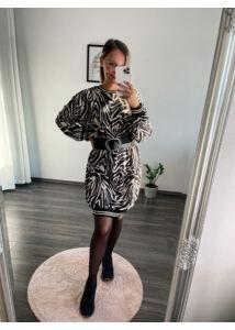 Zebramintás bő ruha
