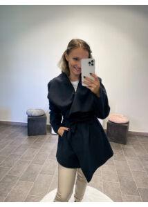 Filc anyagú kabát-sötétkék