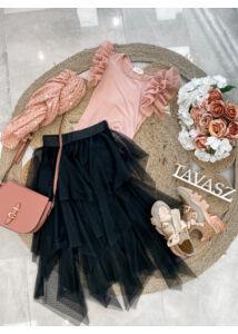Rózsaszín pamut body