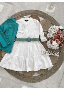 Vászonhatású ruha-fehér