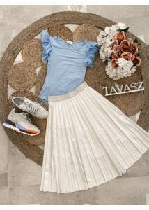 Csillogós fehér plisszírozott szoknya