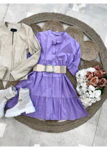 Vászonhatású ruha-lila