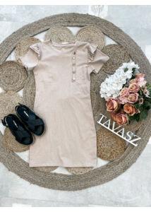 Arany gombos ruha-bézs
