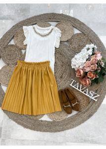Mini plisszírozott szoknya-sárga