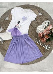 Mini plisszírozott szoknya-világos lila