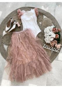Rakott tüllszoknya-rózsaszín