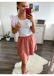 Fodros szoknya - rózsaszín