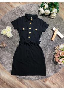 Fekete, gombos ruha