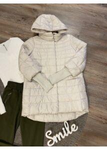 Törtfehér kötött ujjú kabát