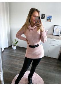 Garbós, övtartós tunika-rózsaszín