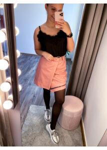Rózsaszín cipzáros szoknya