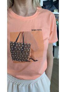 Strasszos táskás póló