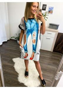 Liza zsebes tunika-farmernaci