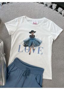 LOVE póló-kék