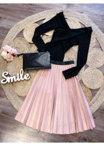 Rózsaszín plisszírozott szoknya