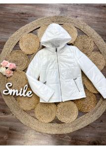 Fehér, tavaszi kabát