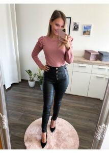 Linda bőrhatású nadrág-fekete