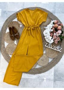 Bő szárú overál-sárga