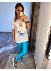 Kék, vékony leggings