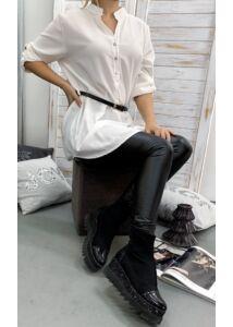 Fehér, öves hosszított ing