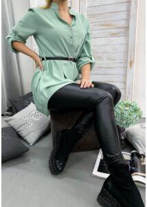Mentazöld, öves hosszított ing