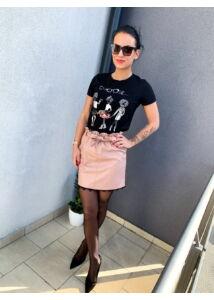 Bőrhatású, rózsaszín szoknya