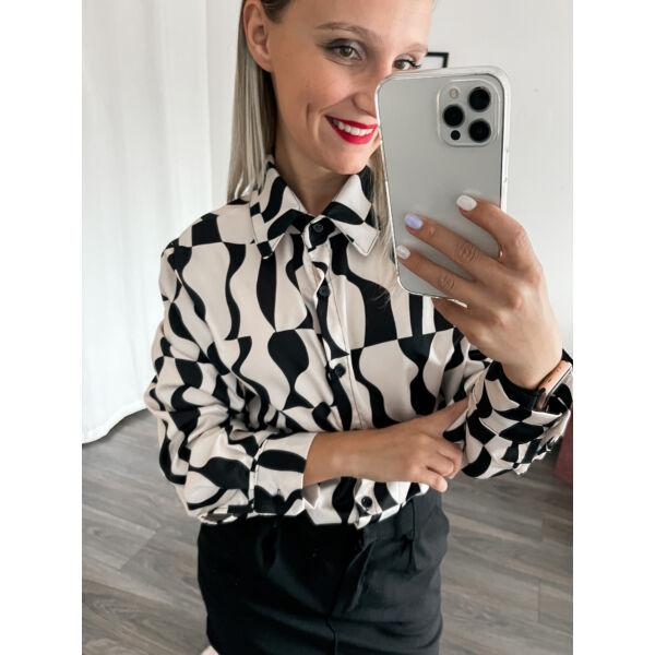Fehér-fekete mintás ing