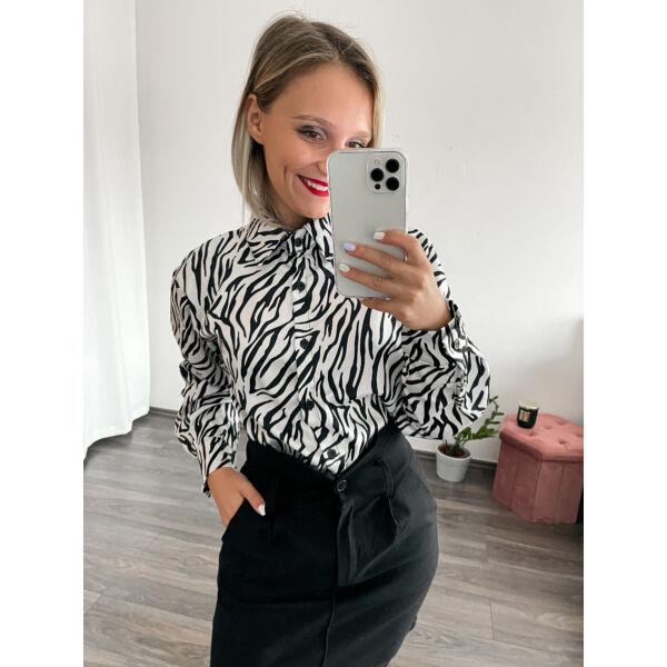Zebra mintás ing