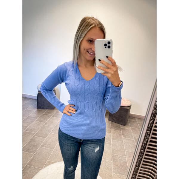 Kötött pulcsi-kék