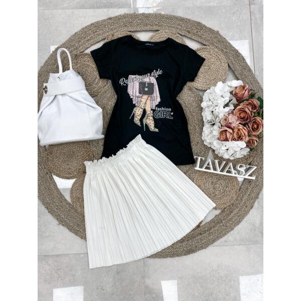 Mini plisszírozott szoknya-fehér