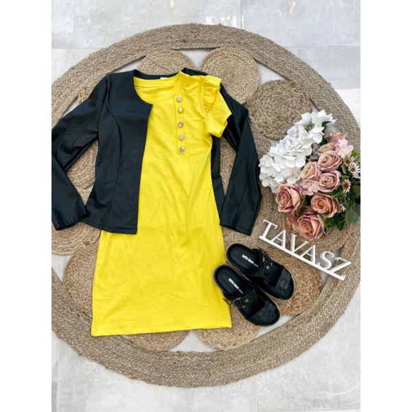 Arany gombos ruha-sárga
