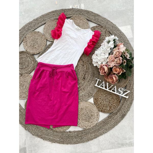 Pink tüllös body