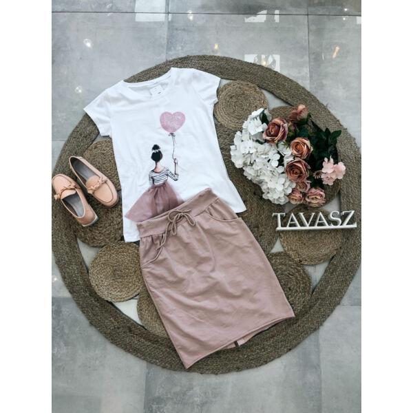 Szoknyás póló-rózsaszín