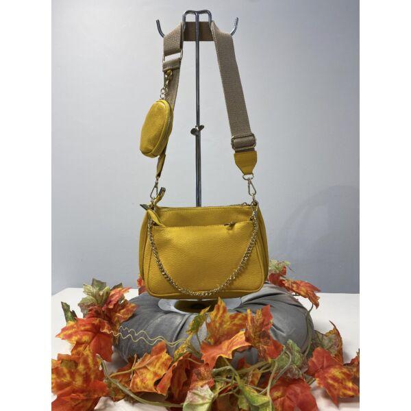 Sárga dupla táska