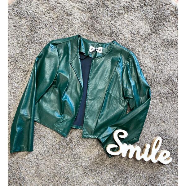 Bőrhatású boleró-zöld