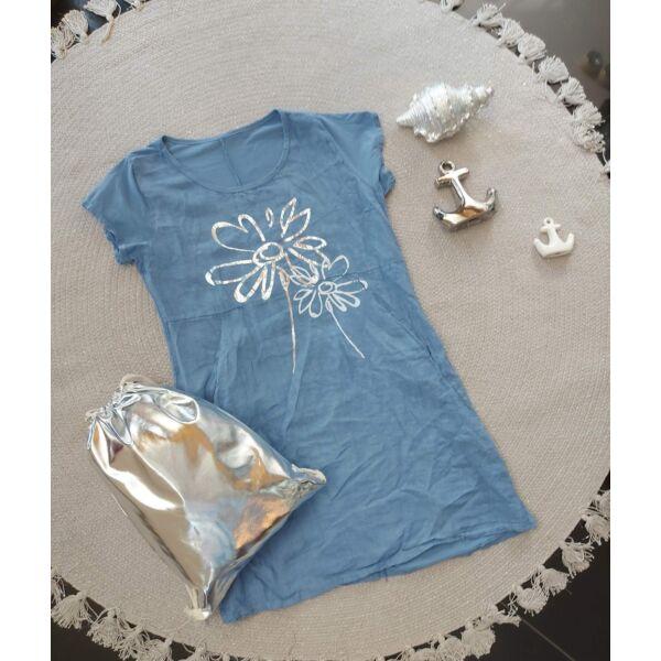 Zsebes, virág mintás ruha