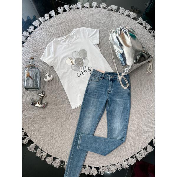 Lufis póló-ezüst
