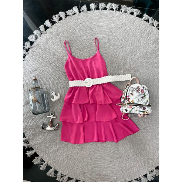 Spagetti pántos ruha-pink