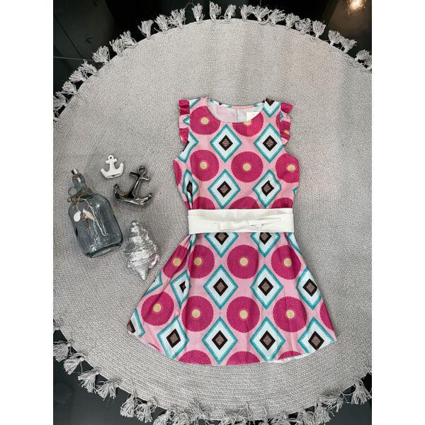 Pink mintás ruha