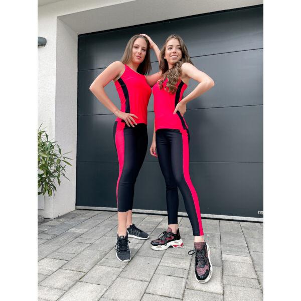 Pink-fekete leggings