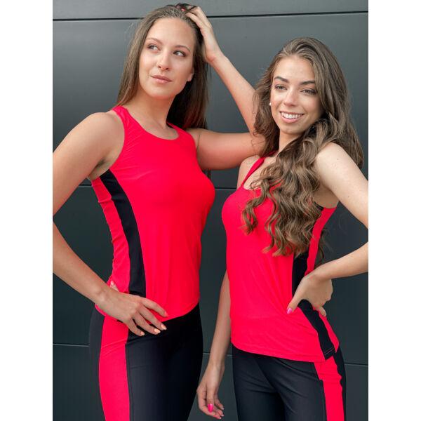 Pink-fekete trikó